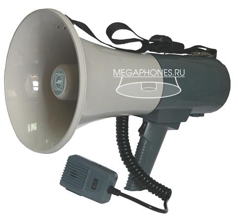 AT-M135BC Arstel - ручной мегафон с выносным микрофоном с сигналами сирены и свистка