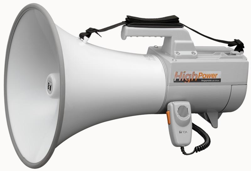 ER2230W TOA - Ручной мегафон высокой мощности с встроенным микрофоном и свистком