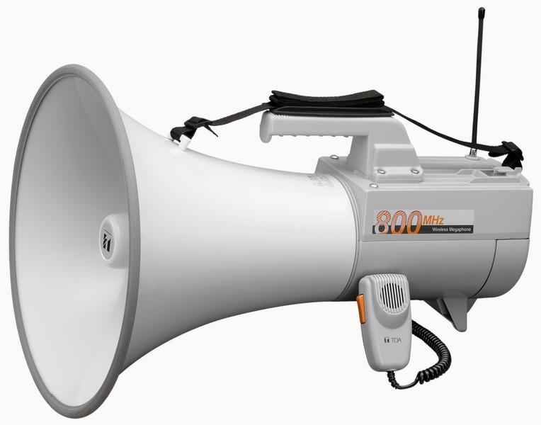ER2930W TOA - Мегафон высокой мощности с выносным микрофоном и свистком, линейный вход, беспроводной микрофон
